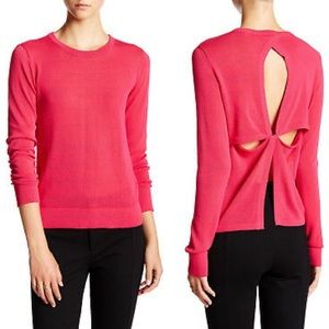 A.L.C Knox pink athleisure back cut out sweater